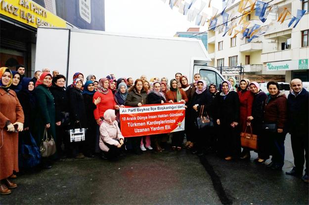 AK Partili kadınlar Türkmenlere Beykoz'dan el uzattı