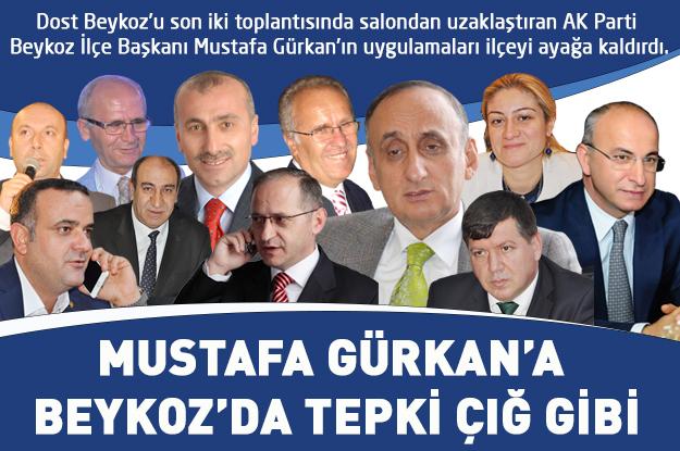 Mustafa Gürkan'a Beykoz'da tepki çığ gibi