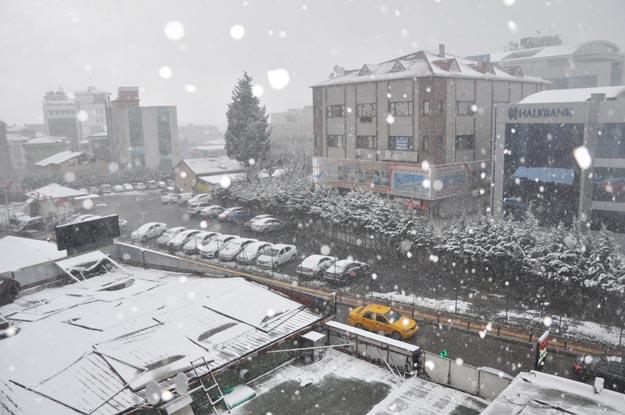 Beykoz'a ilk kar bugün düştü