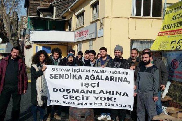 Beykoz Türk Alman öğrencilerinden işçi direnişine destek