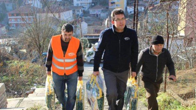 Beykozlu mültecilere yardım...