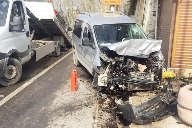 Beykoz sahilinde trafik kazası