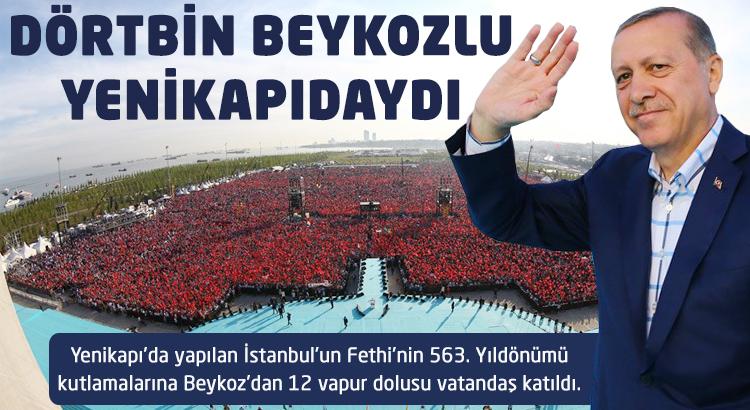 Dörtbin Beykozlu vatandaş Yenikapı'daydı