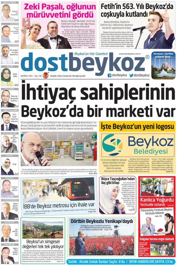 Dost Beykoz Gazetesi Haziran 2016... 158. Sayı