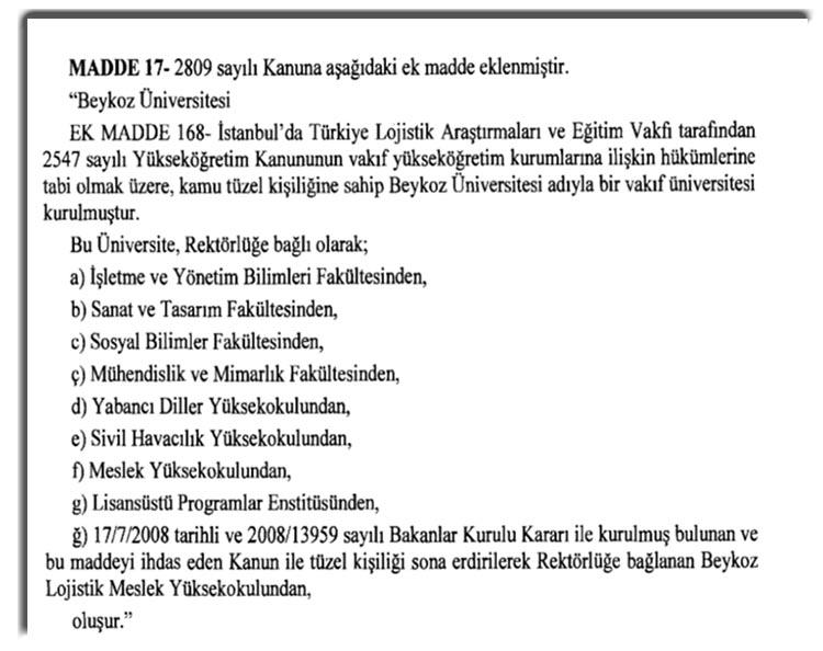Cumhurbaşkanı Erdoğan Beykoz Üniversitesi için imzayı attı