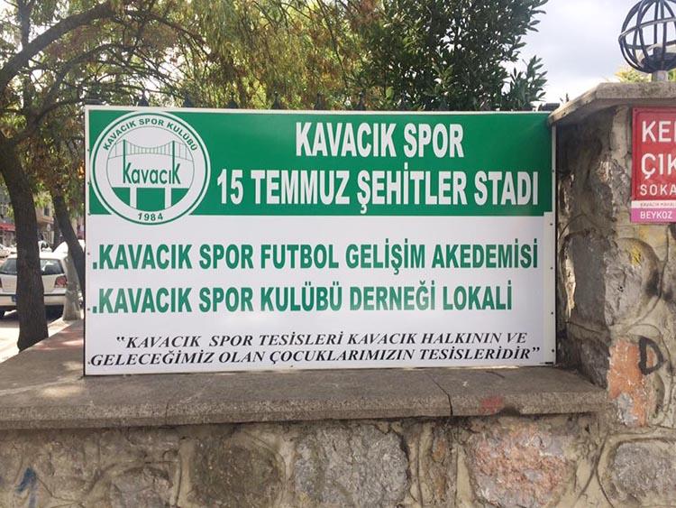 Kavacık Spor Stadı'nın ismi değişti