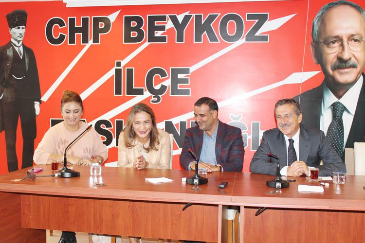 CHP Beykoz'un önemli konukları vardı