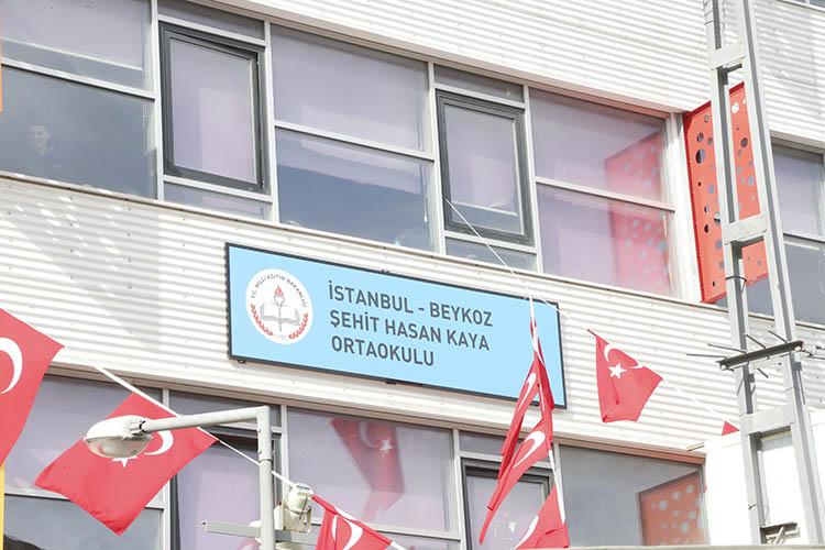 Beykozlu Şehit Kaya'nın adı mahallesindeki okula verildi