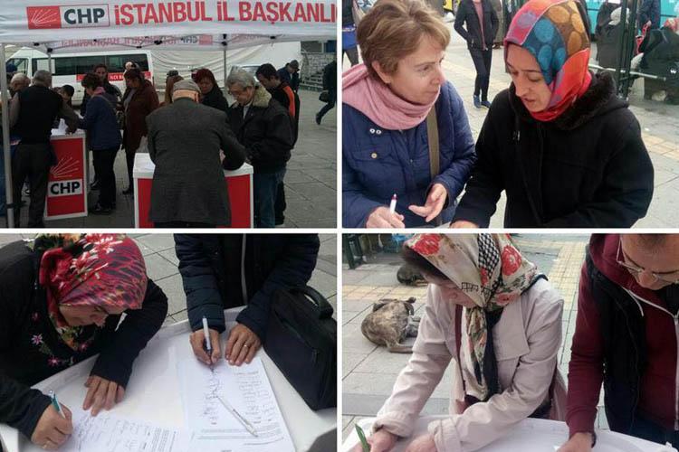 CHP Beykoz, 5 bin imza ile Ankara yolunda