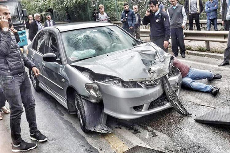 Beykoz Burunbahçe'de trafik kazası… Can kaybı yok