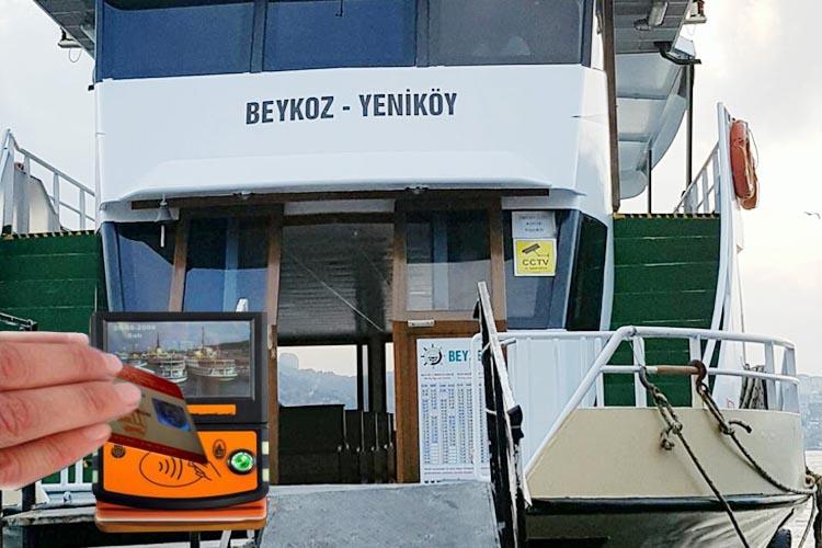 Beykoz Yeniköy seferlerinde İstanbulkart uygulaması