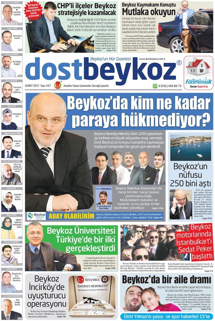 Dost Beykoz Gazetesi Şubat 2017... 167. Sayı