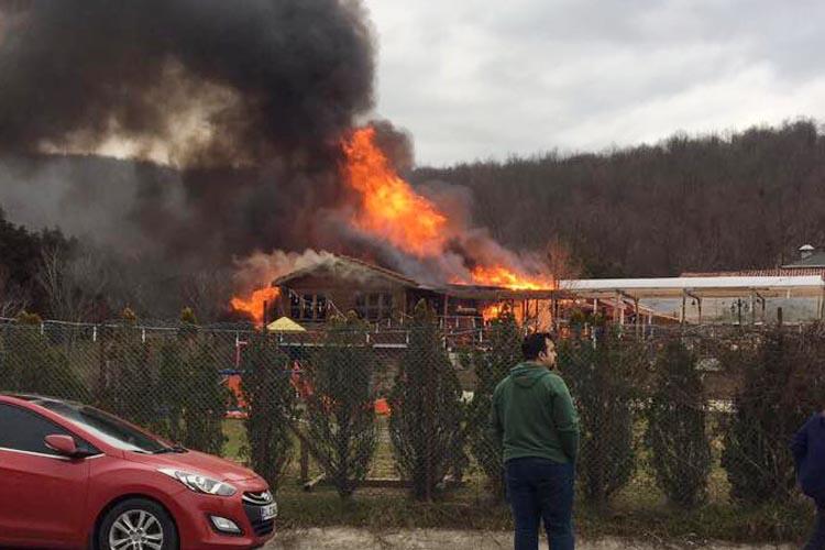Beykoz Kuşevi Restaurant'ta yangın çıktı