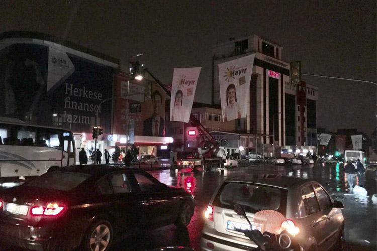Beykoz'da referandum kampanyası gerginleşiyor