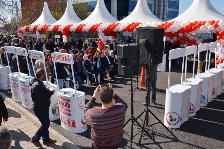 Beykoz'un STK'ları referandumda evet diyecek