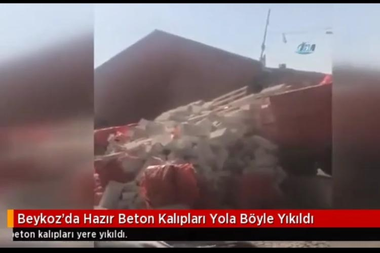 Beykoz Gümüsuyu'nda kamyon tehlikesi