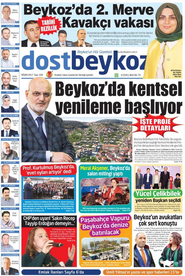 Dost Beykoz Gazetesi Nisan 2017... 169. Sayı