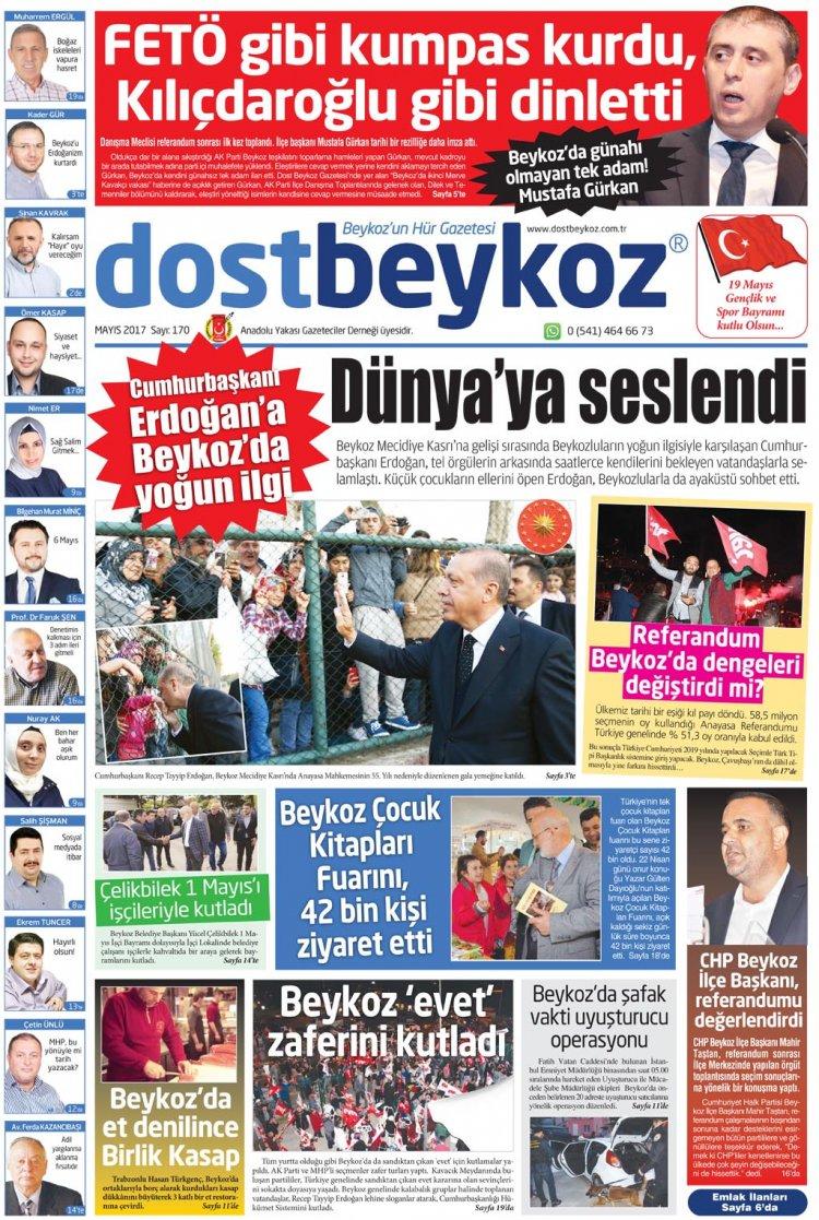 Dost Beykoz Gazetesi Mayıs 2017... 170. Sayı