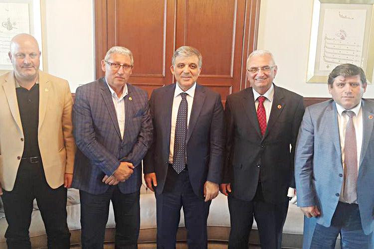 Muhtarlar, Beykozlu Cumhurbaşkanını ziyaret etti