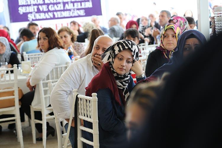Beykoz'da şehit ve gazi ailelerine şükran yemeği
