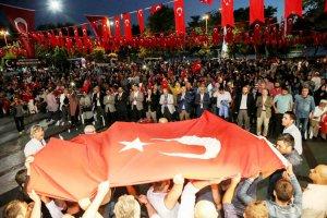 Beykoz'da Milli Birlik nöbeti başladı