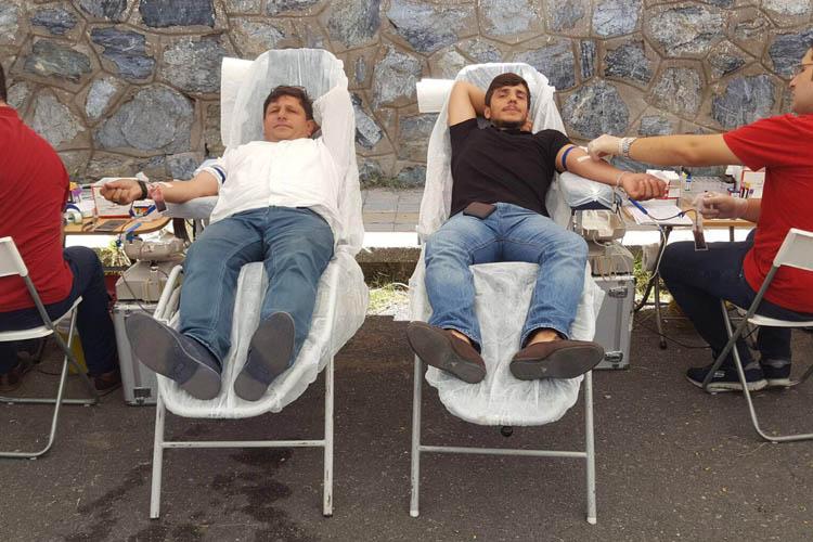 Çavuşbaşılı vatandaşlar 102 ünite kan verdi
