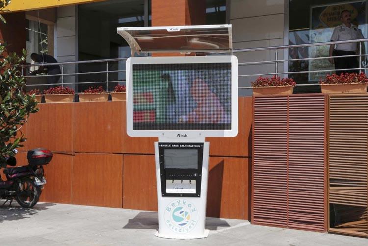 Beykoz'da engelliler için akü şarj istasyonu