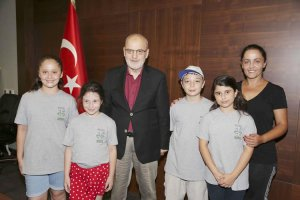 BEDES'li Öğrencilerden Başkan Çelikbilek'e davet