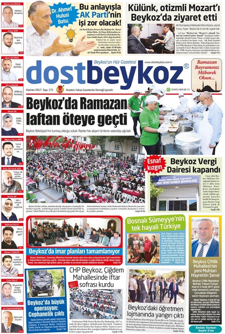 Dost Beykoz Gazetesi Haziran 2017... 171. Sayı