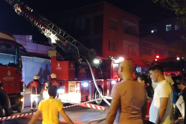Beykoz Soğuksu'da korkutan yangın