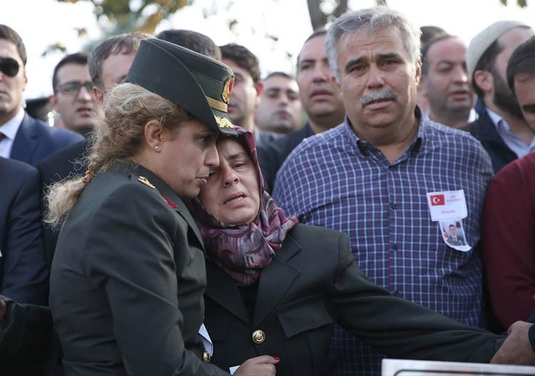 Beykoz şehidinin askeri töreni