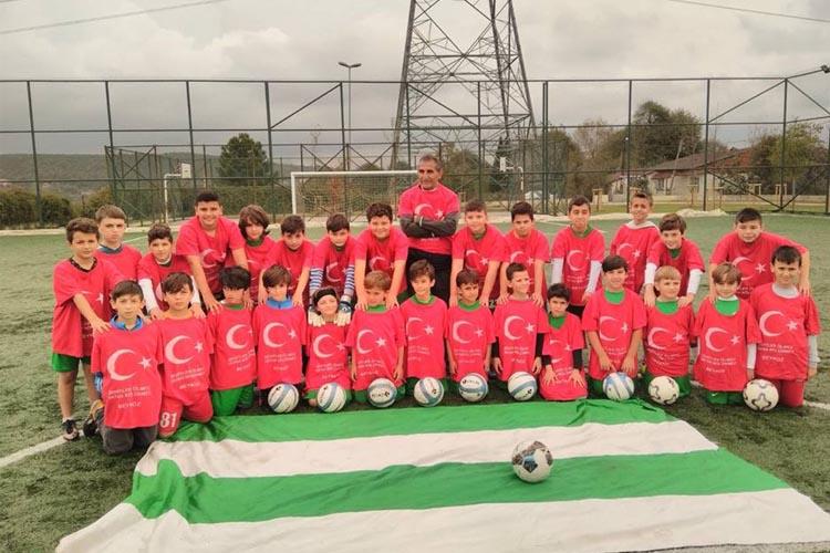 Beykoz'un amatör maçlarında 29 Ekim kutlaması