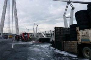 YSS Beykoz ayağında kamyon yangını