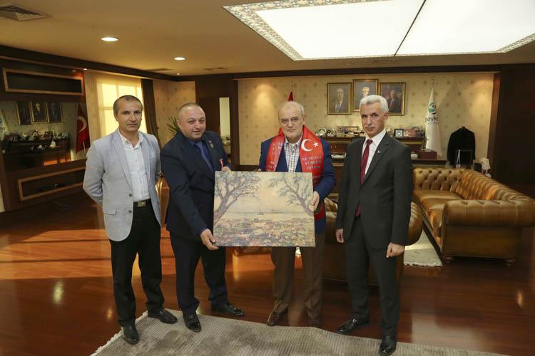 Gaziler Derneği'nden Başkan'a teşekkür ziyareti