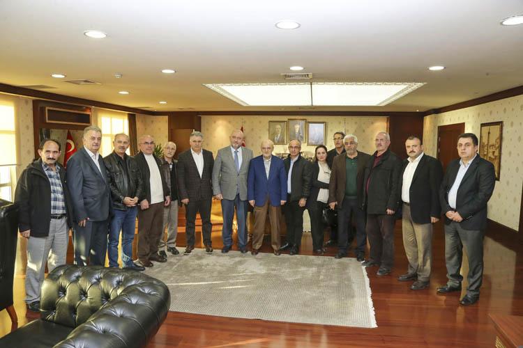 Yöre Dernekleri, Başkan Çelikbilek'e teşekkür etti
