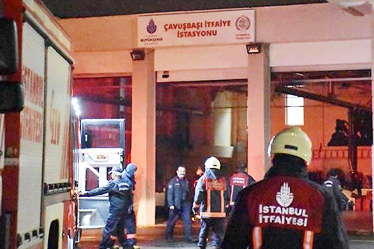 Bu kez Beykoz İtfaiye Amirliği'nde yangın çıktı