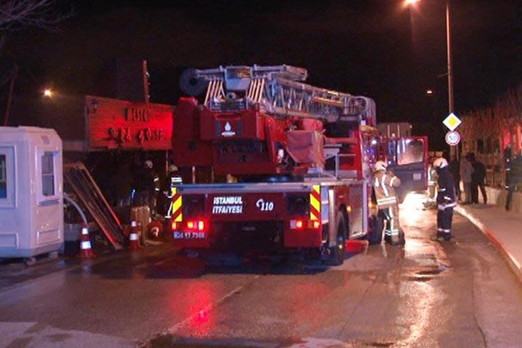 Beykoz Görele Mahallesinde restoran yandı