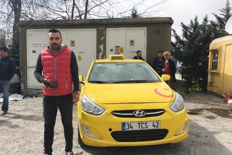 Beykoz'da günün konusu, taksici Ertuğrul Duman