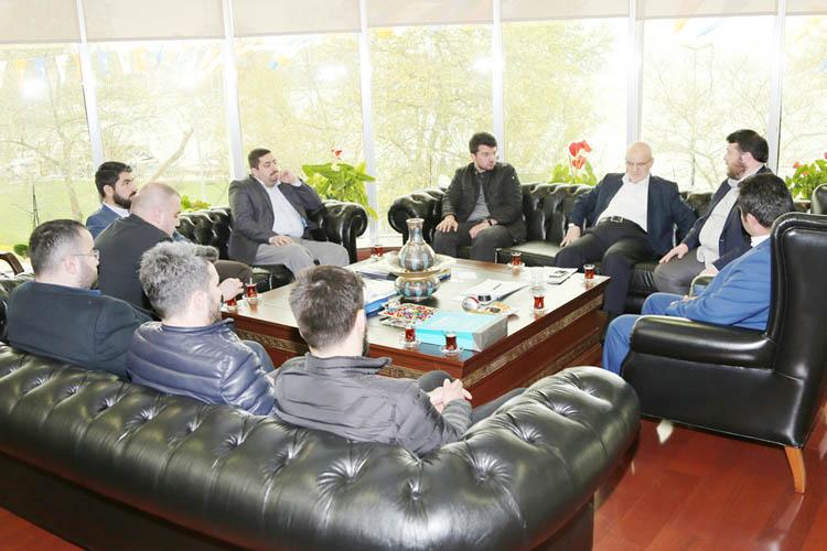 TÜGVA Beykoz'dan Başkan Çelikbilek'e ziyaret