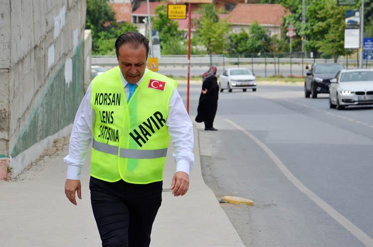 Korsan lense hayır yürüyüşü Beykoz'dan başladı
