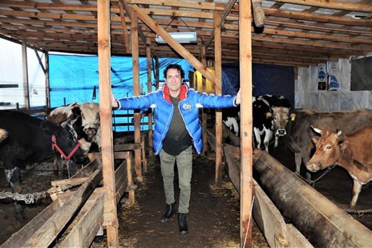 Kıraç'ın Beykoz Alibahadır'daki çiftlik yaşantısı