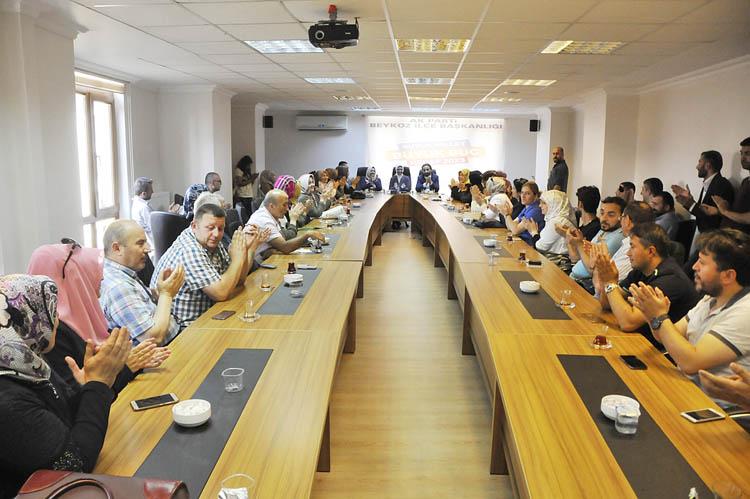 Ravza Kavakçı, Beykoz teşkilatına teşekkür etti