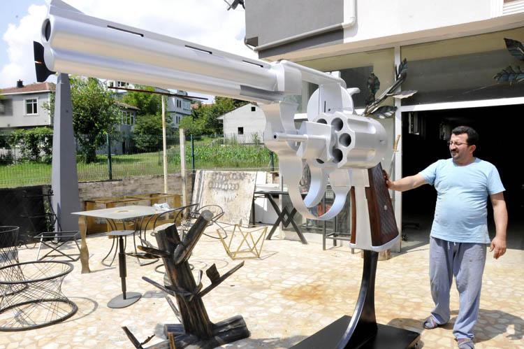 Dev silah Beykoz'da görücüye çıktı