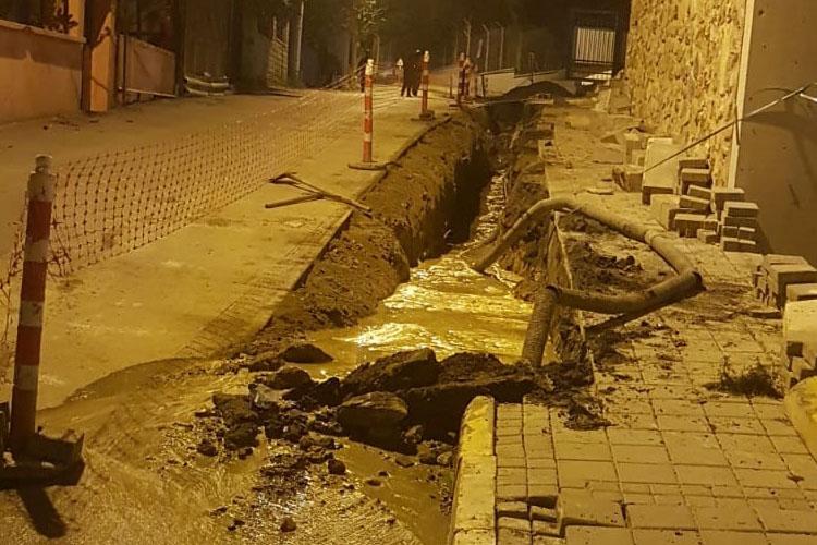 Beykoz Yalıköy'de doğalgaz borusu patladı
