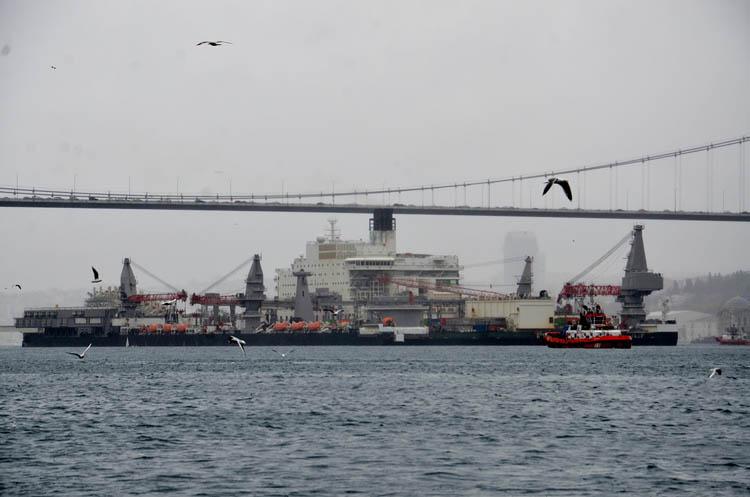 TürkAkımını bitiren dev yeniden Beykoz sularında