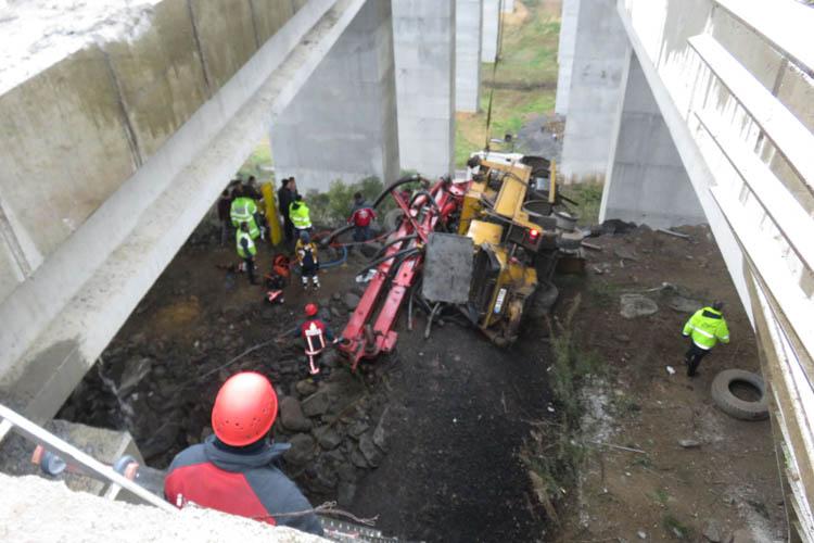 Beykoz Riva'da akıl almaz mikser kazası
