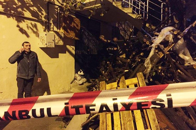 Aşırı yağmur Beykoz'da istinat duvarı yıktı