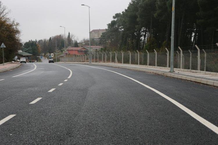 Beykoz'da Yuşa Tepesi yolu genişletildi