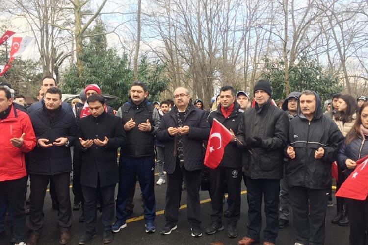 Beykoz'da Sarıkamış Şehitleri için yürüdüler