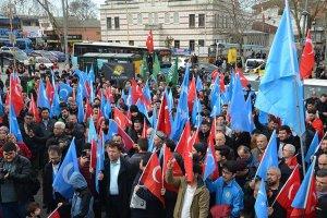 Beykoz halkı Çin zulmüne öfke kustu